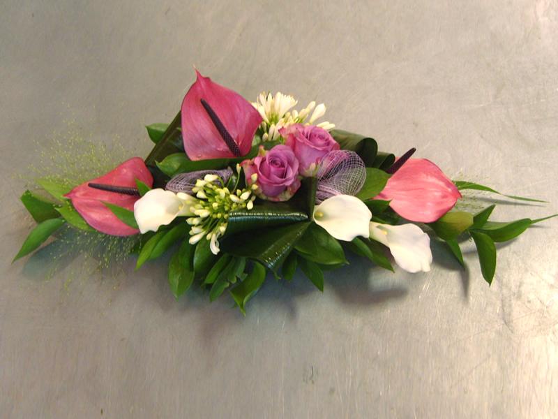 Centre de table pour mariage fleurs et nuances - Bouquet de table pour mariage ...