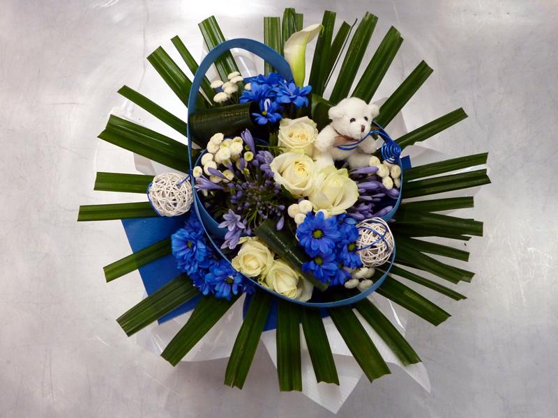 Bouquet de naissance fleurs et nuances for Bouquet de fleurs pour une naissance